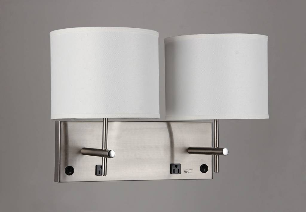 LED wall sconce with sockets