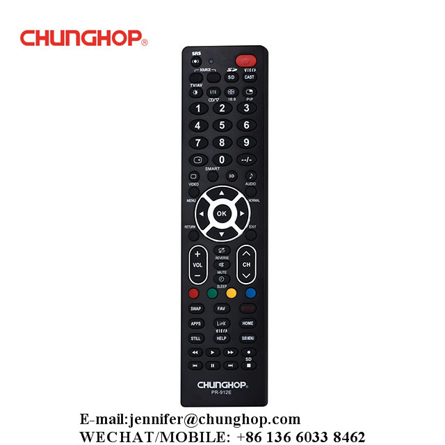 Chunghop PR-912E TV LCD LED Plasma Single Brand Remote Control Replacement For Panasonic Brand