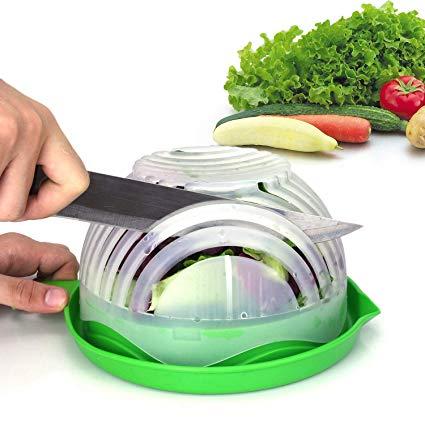 2019 New Kitchen Gadget Quick Cutter Chopper Kitchen Tool Best Salad Maker Salad Cutter Bowl