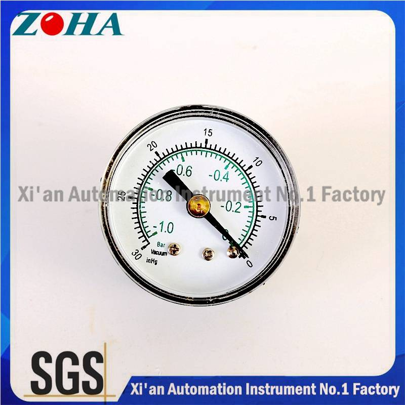 Mini Pressure Gauge Vacuum Plastic Case Brass Connector Commercial Type