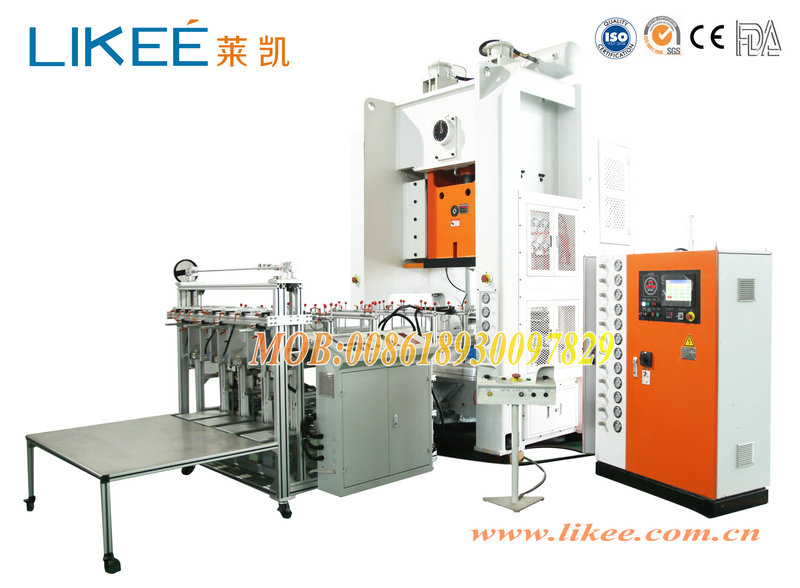 Aluminium foil dishes machinery for container