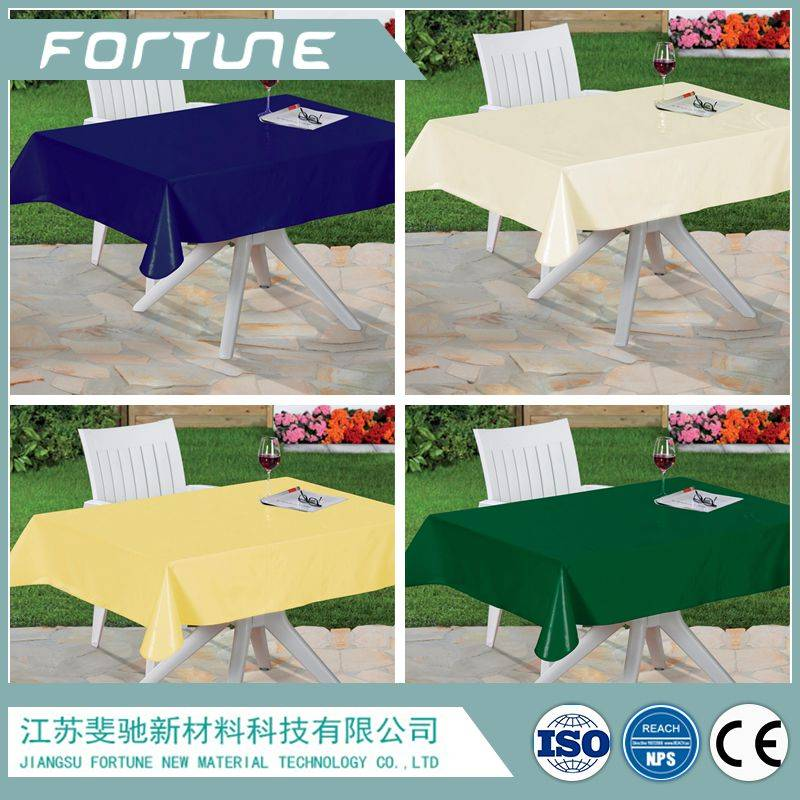 pvc sheet table cloth solid color printed