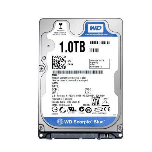 "Western Digital WD10JPVX WD Blue 1TB 2.5"" Internal HDD Mobile Hard Drive Disk"