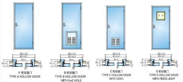 Marine Aluminum Hollow Cabin Door