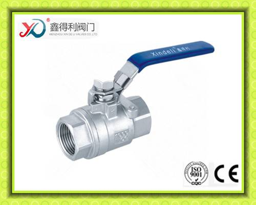 2PC thread stainless steel ball valve