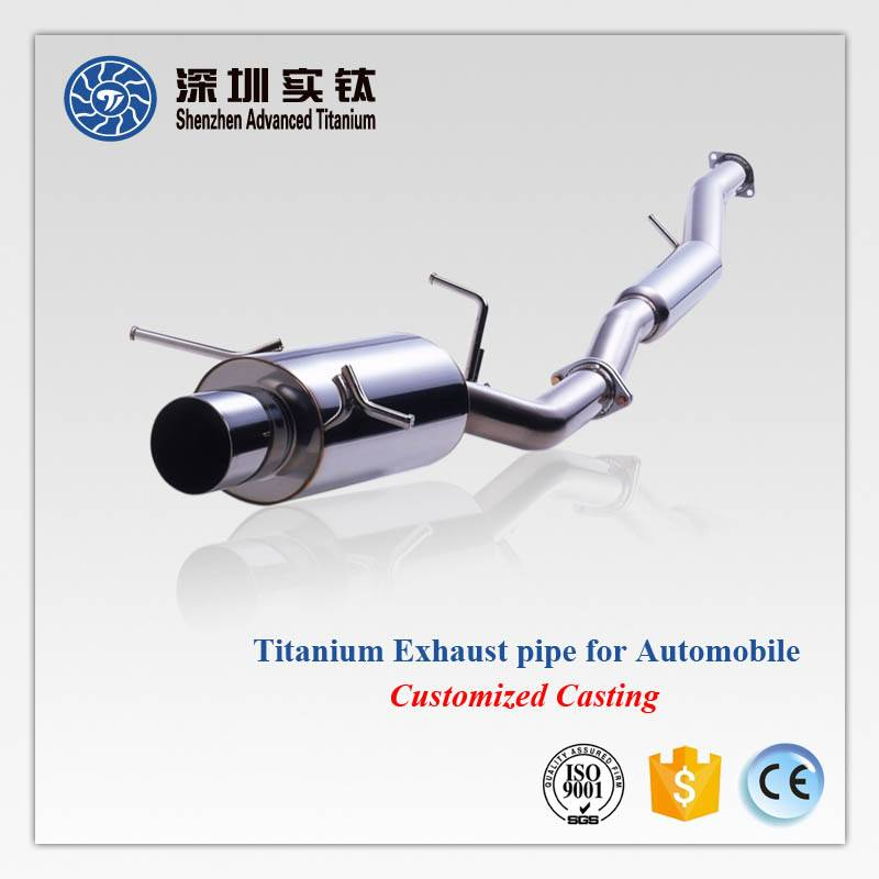 Hot sale titanium exhaust pipe for car automobile suppliers in China
