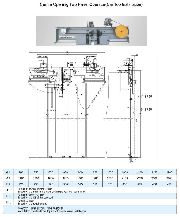 Mitsubishi type Elevator Door Machine