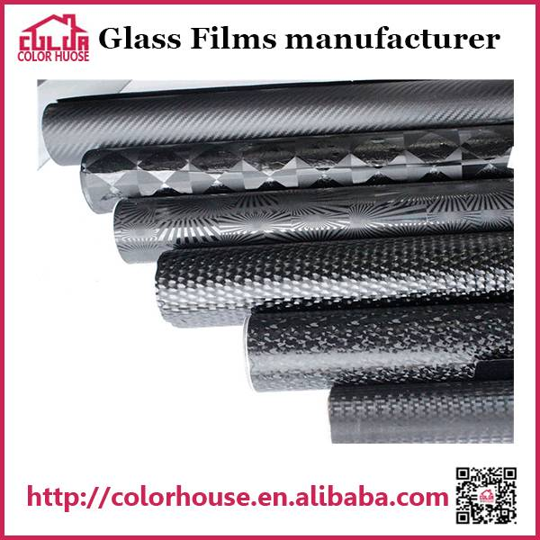 Black pvc auto decorative film