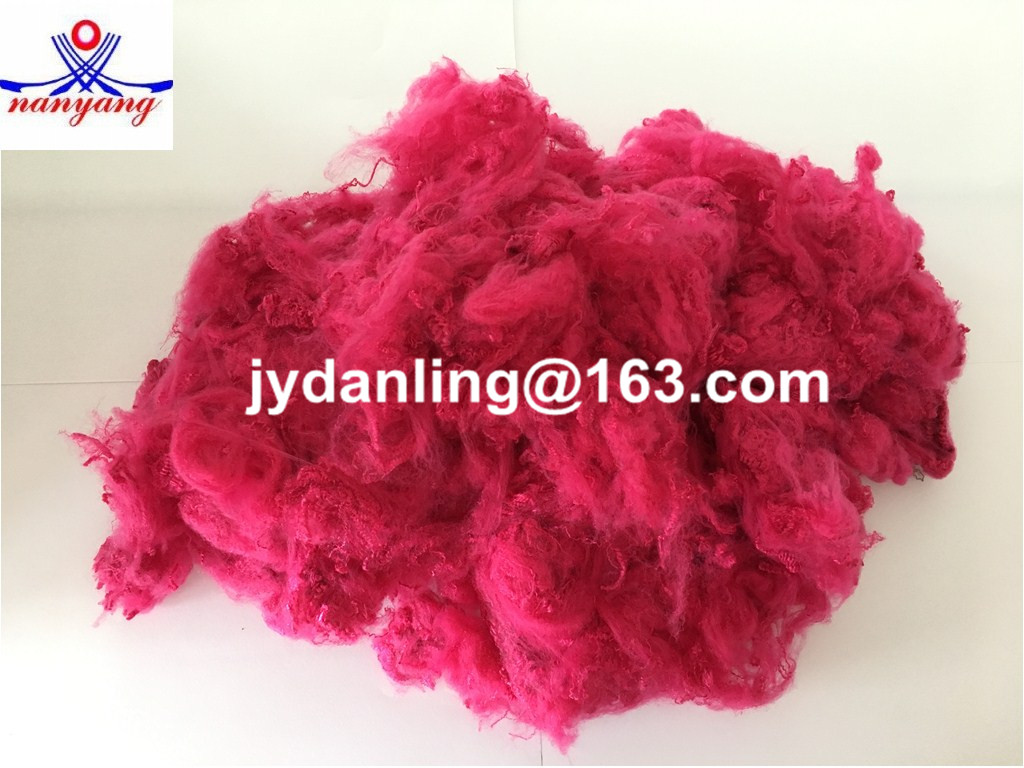 Polyester Fiber (Regenerated) in Red