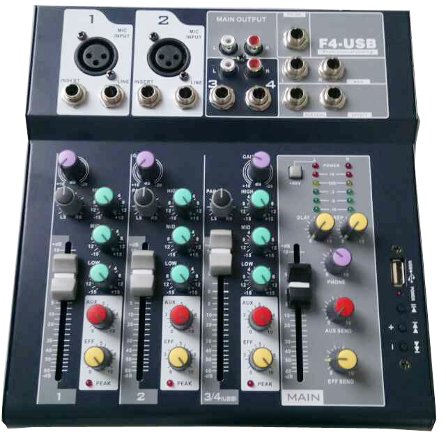Sell F4-USB 3 Channel Digtal Mic Line Audio Mixing Mixer Console