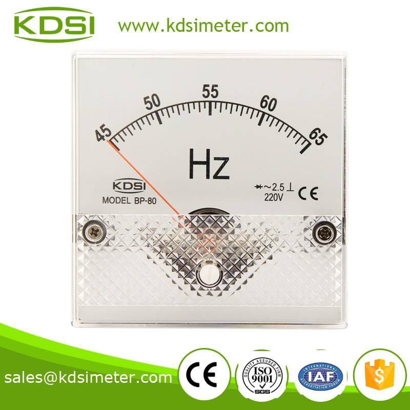 High quality BP-80 45-65HZ 220V electrical frequency meter