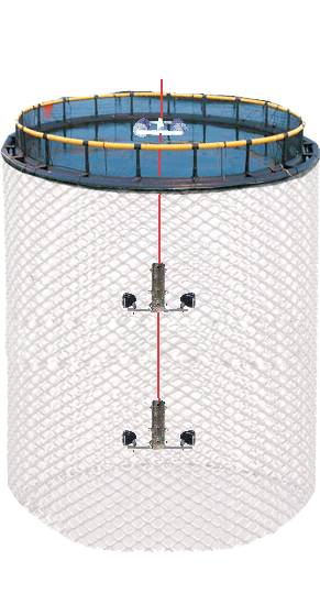 Underwater double-deck and 4-lenses 4-way
