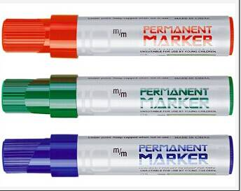 Jumbo permanent marker chisel point bullet point10mm