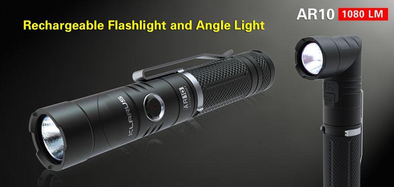 Rechargable Falshlight and Angle Light-Klarus AR10
