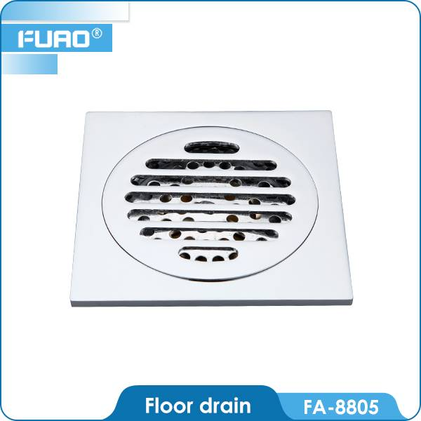 Bathroom brass floor drain