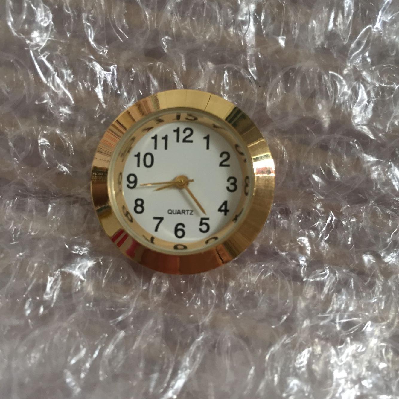 27.5mm gold metal arabic insert clock