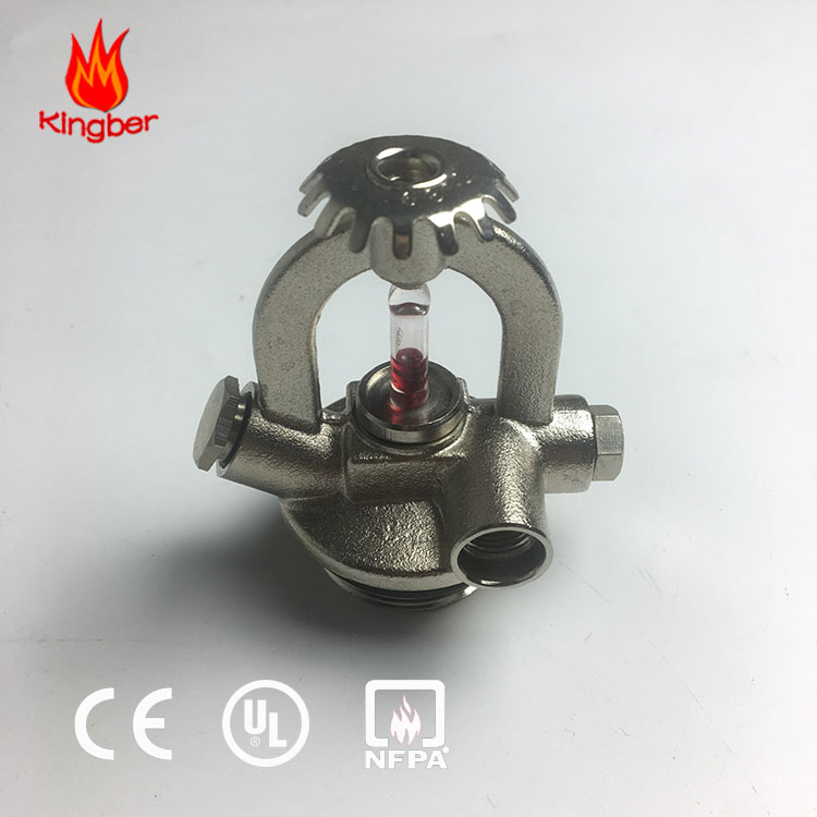 UL&FM Approved Brass Fire Fighting 72 Celsius Degree Upright Fire Sprinkler System