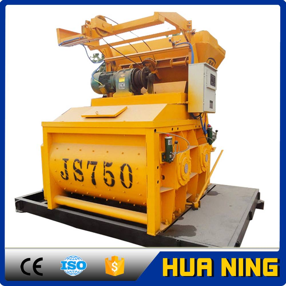 New products for 2016 JS750 widely used mixer/concrete mixer machine with lift price