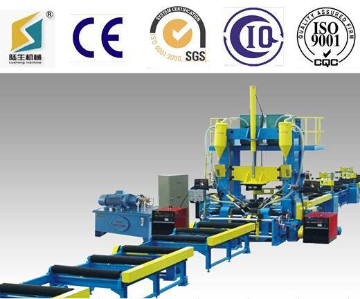 H beam assembly welding straightening machine