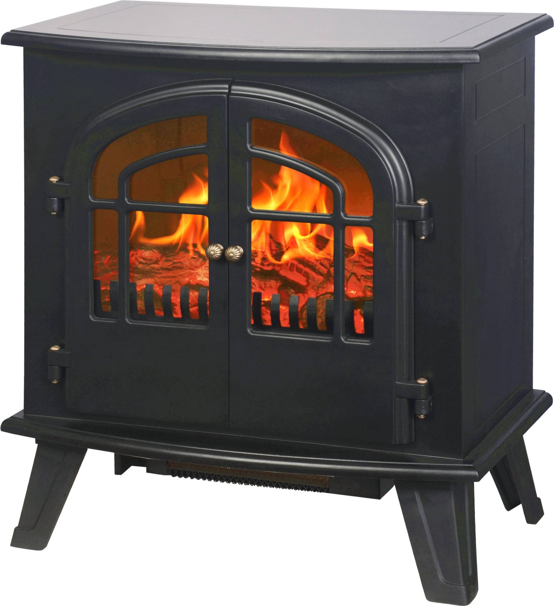 fireplace heater with door