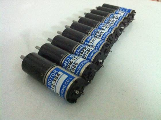 China 12V ink key motor TE16KM-12-384