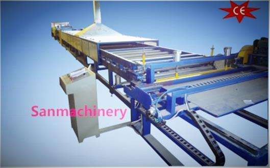 Honeycomb paper panel lamination line