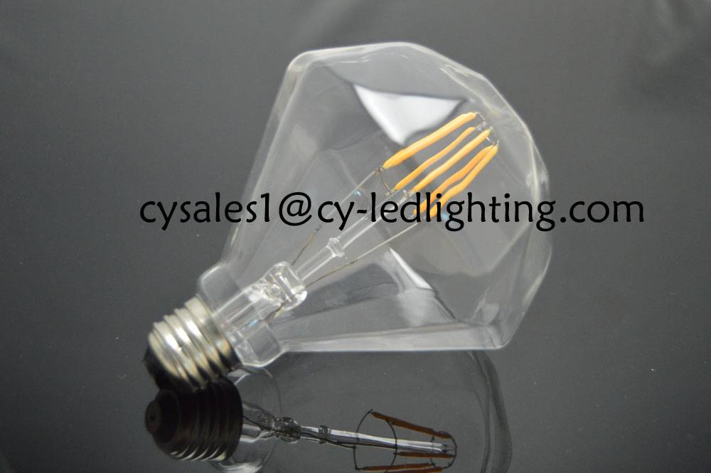 Pyramid liquid filament led bulb 85-265V beautiful decorate led bulb