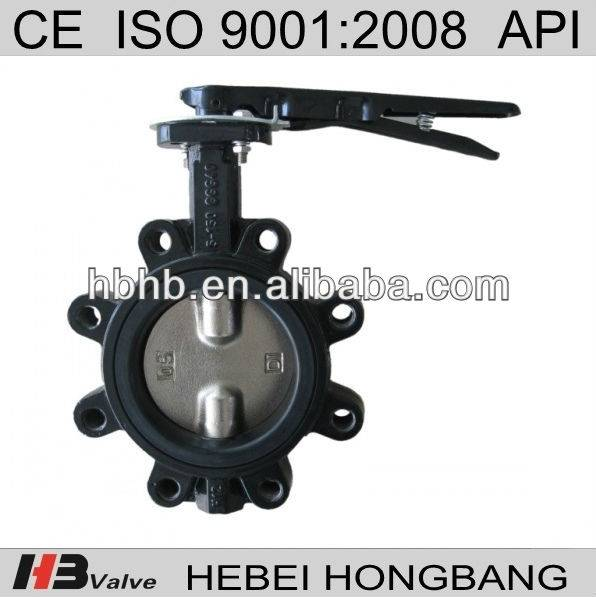 Split Stem Lug type Butterfly Valve with EPDM/PTFE seat