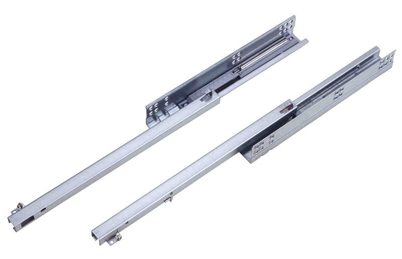 single extension undermount drawer slide with pin