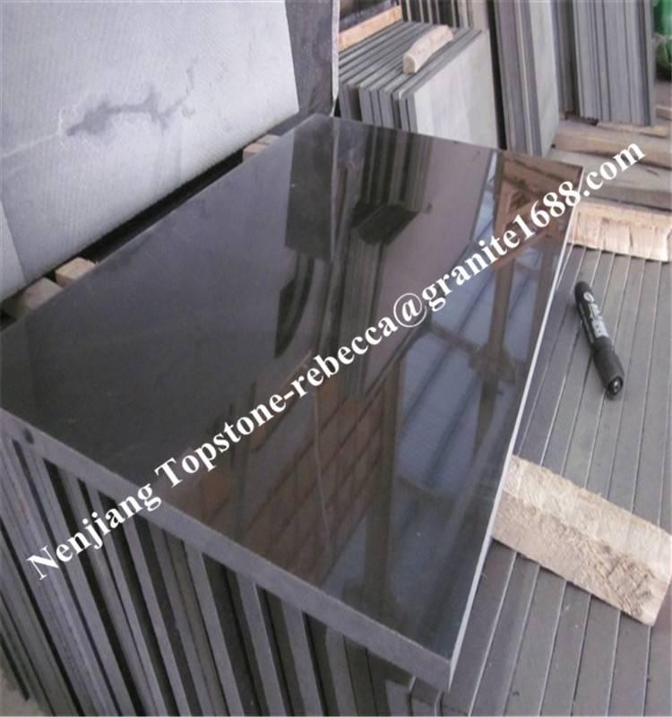 Black granite, granite tile, granite slab