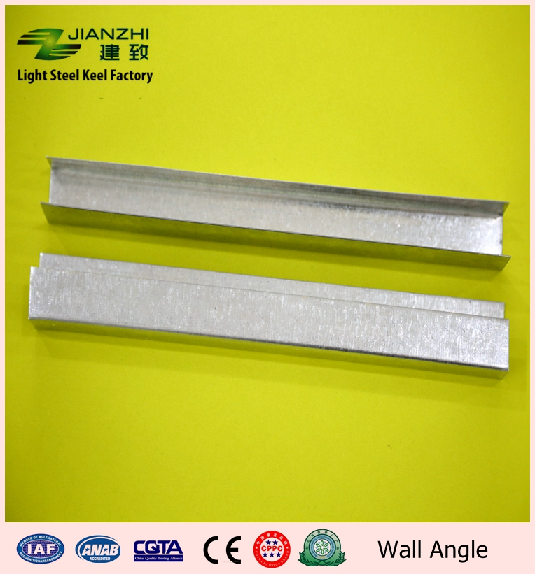 Earth freindly 27/20/20mm galvanized steel u type ceiling wall angle