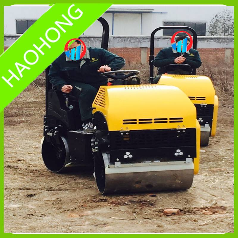 1 ton full hydraulic ride-on road roller compactor