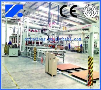 Short cycle lamination high speed line/ melamine press machine
