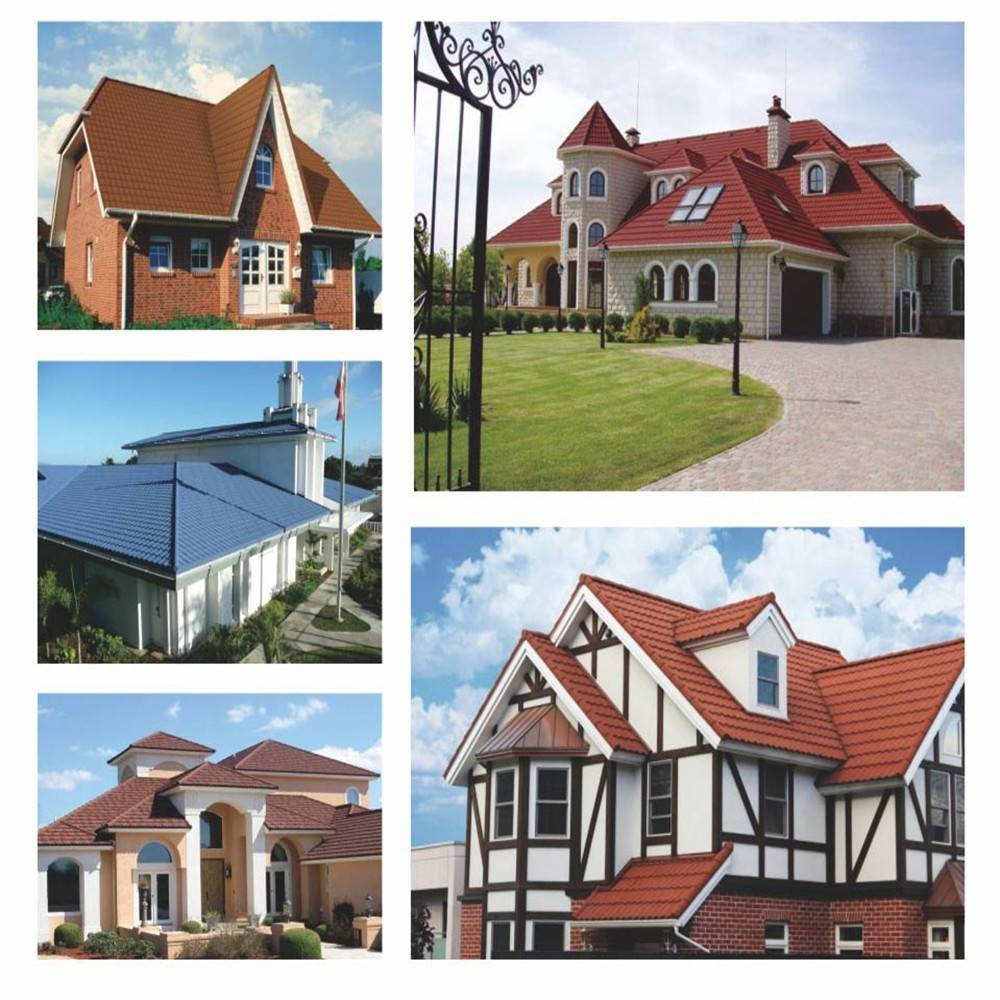 Building materials stone coated metal roofing tiles
