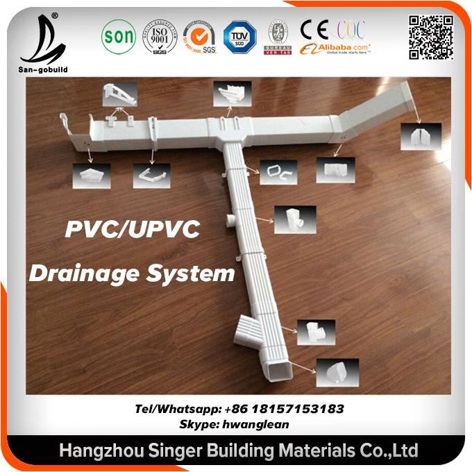 5.2 7InchPVC/UPVC/Aluminum Rain Drain Gutter System For Roofing System