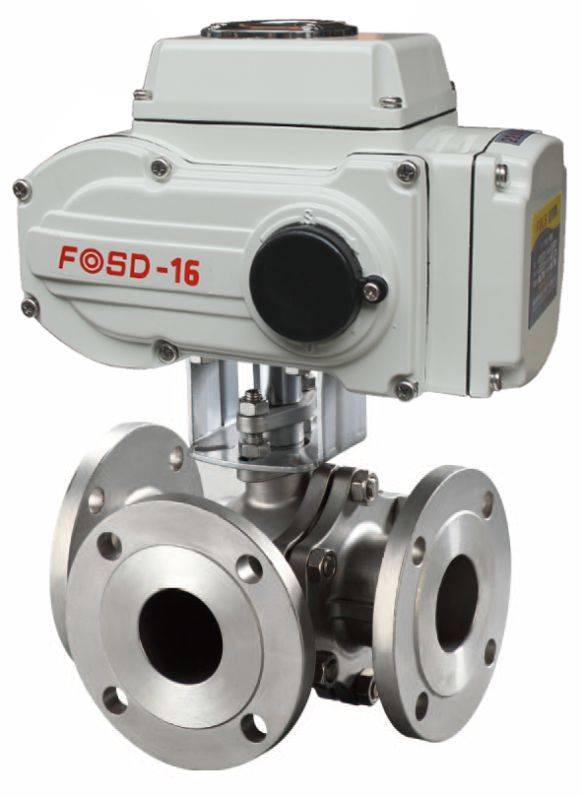 Electric Low Pressure 3 Way Stainless Steel Ball Valve