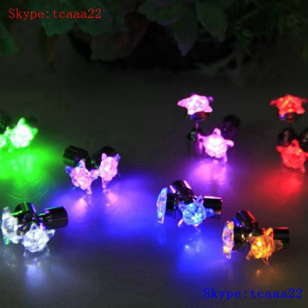 light up flashing led earrings