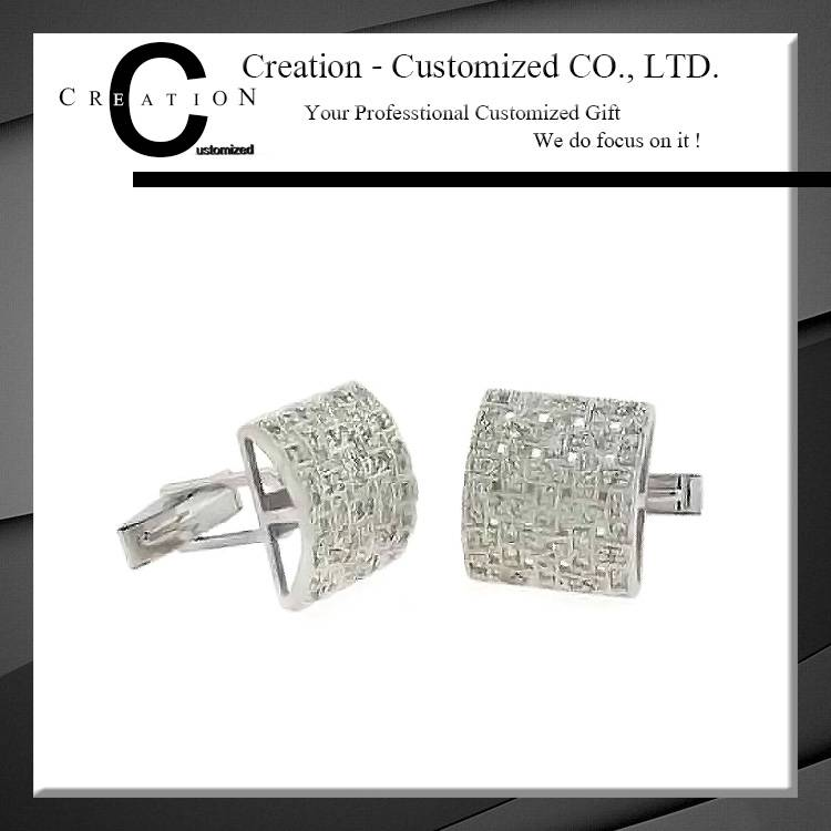 Crystal Stone Brick Diamonds Characterize Cufflink