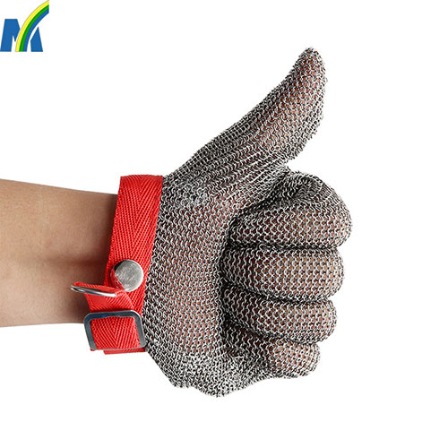 High Quality Protection Safety Stainless Steel Chain Mail Gloves for Meat Processing