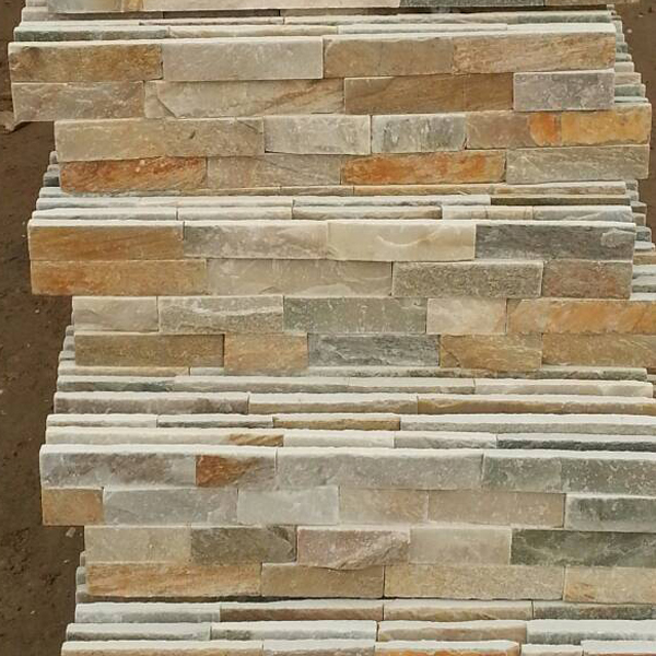 YIJUN STONE/ Light color Natural slate stone/ TV wall stone