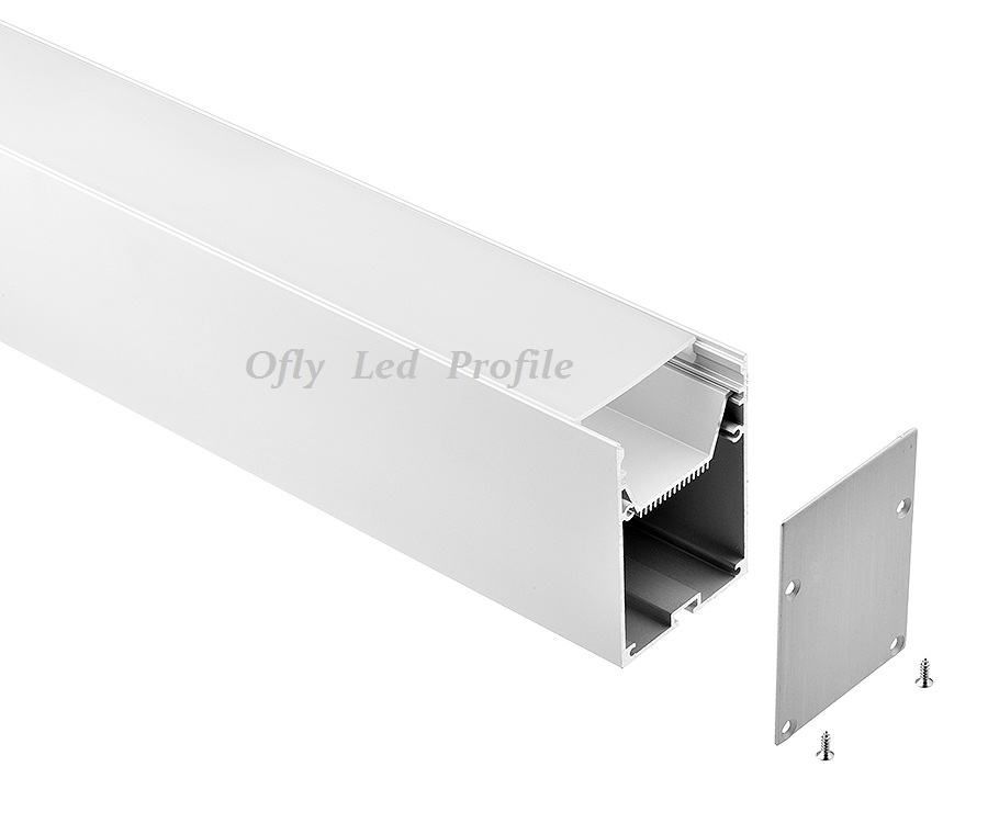 Led linear pendant light SKD parts aluminum profile and pc housing with hanging rope made