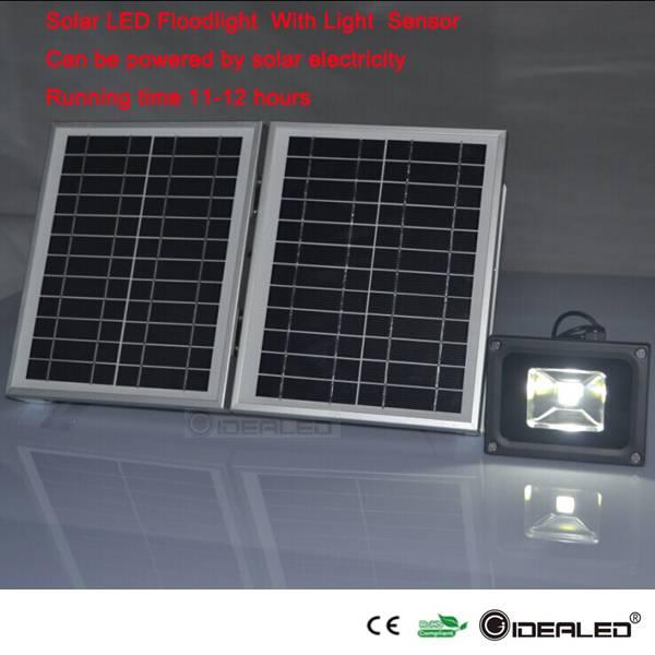 5w solar flood light with light sensor