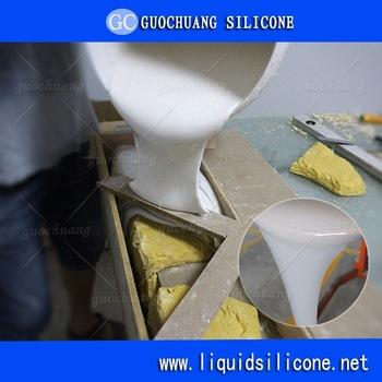 rtv2 silicone rubber for concrete stone /plaster cornice /soap mold