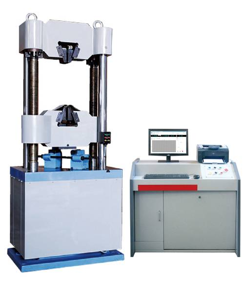 Microcomputer controlled electro-hydraulic servo universal testing machine WAW-B series