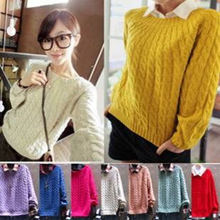 Autumn knitted sweater for girls