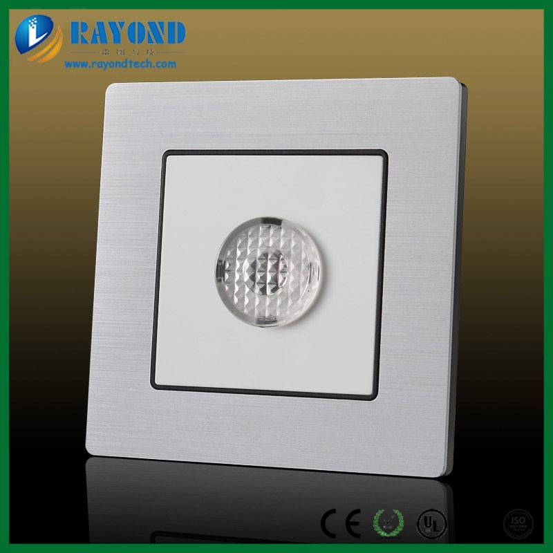Silver Color Brushed Aluminum Faceplate Touch Control Wall Switch