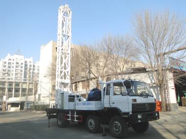 Truck-mounted water well drilling rig YF-BZ-200
