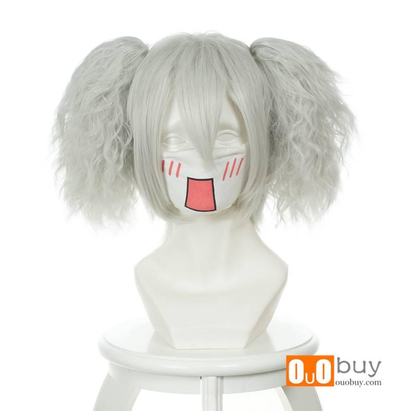Darker Than Black Sakata Gintoki Silver White Double Ponytails Cosply Wig