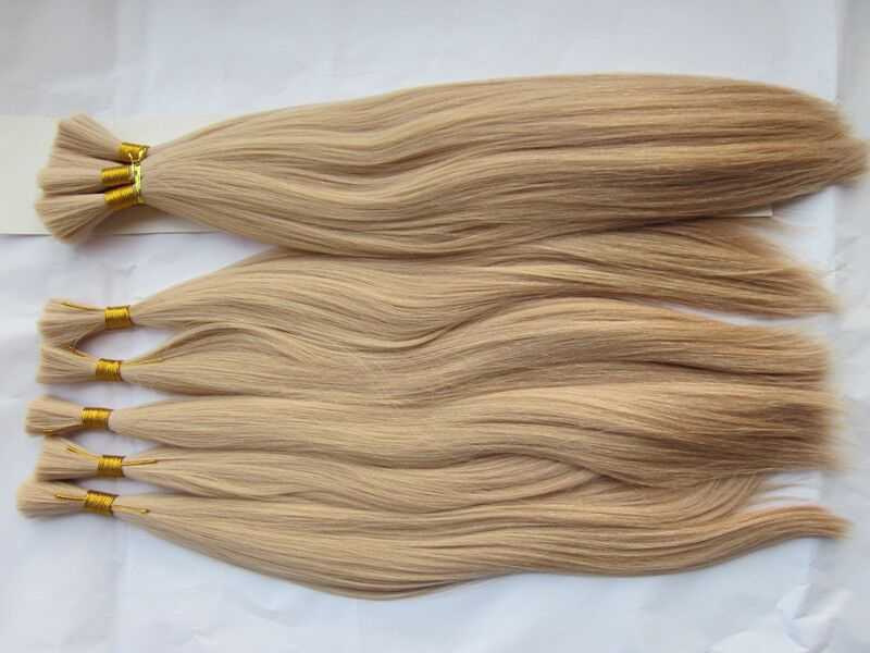 Silk Straight Remy Hair 613 Blonde Color Weave Human Hair Bulk