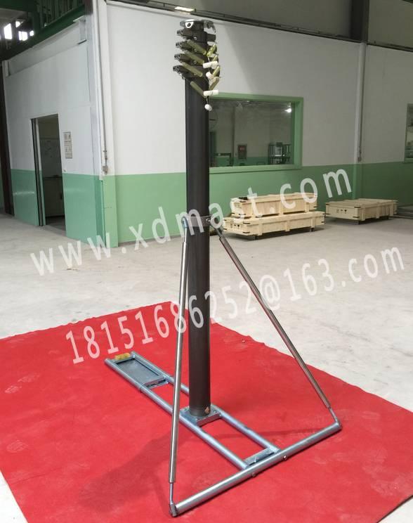 wheel pressure automatical telescoping mast